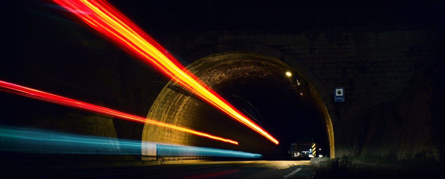 A tunnel and the blur of lights